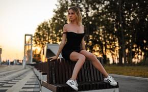 Picture pose, Girl, figure, dress, Olga White, Artem SolovЬev