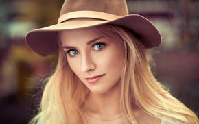 Picture look, Girl, hat, blonde, Lods Franck