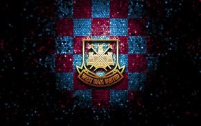 Picture wallpaper, sport, logo, football, glitter, checkered, West Ham United