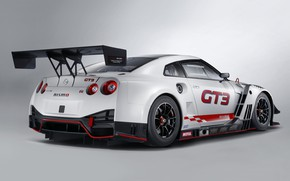 Picture GTR, Nissan, GT-R, racing car, rear view, GT3, 2018, Nismo