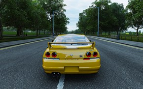 Picture nissan, london, road, yellow, nissan skyline, england, forza, nissan gtr, forza horizon, nissan skyline r33