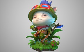 Picture fantasy, the game, art, figure, Riot Games, DragonFly Studio, Teemo figure