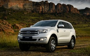 Picture mountains, rocks, Ford, Everest, 4WD, XLT, 2019