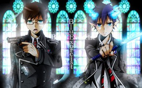 Picture guys, brothers, Blue Exorcist, Ao No Exorcist
