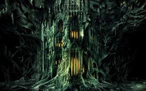 Picture Palace, Castle, Fantasy, Architecture, Art, Daniel Dociu, Guild Wars, Gothic, by Daniel Dociu, Wold wonders