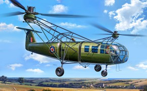 Picture military transport, Air force, the first production transport helicopter, Focke Achgelis Fa 223