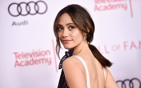 Picture pose, back, actress, Emmy Rossum