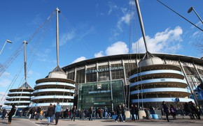 Picture the sky, clouds, football, stadium, Manchester City, Manchester City, Etihad Stadium, Etihad
