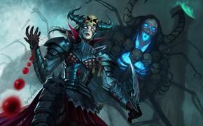 Picture Illustration, Characters, Necromancer, Game Art, Kyle Herring, by Kyle Herring, Necro Monstrosity