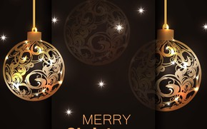 Picture background, holiday, balls, new year, postcard