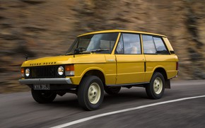 Picture road, markup, Land Rover, Range Rover, side, 1970, 4x4, SUV
