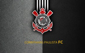 Picture Corinthians Paulista, football, Brazilian Serie A, sport, wallpaper, logo
