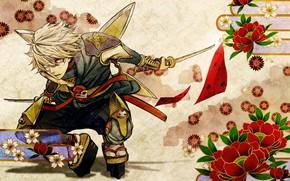Picture sword, anime, art, guy, ninja, Tiger and Bunny, Tiger and Bunny