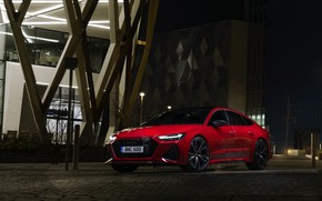 Picture Audi, the building, the evening, RS 7, 2020, UK version, RS7 Sportback
