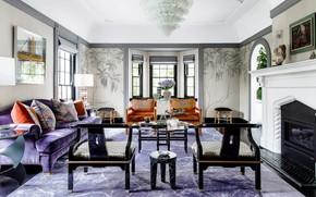 Picture design, interior, fireplace, living room, Australia, LuxDeco style