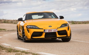 Picture movement, coupe, turn, Toyota, Supra, the fifth generation, mk5, double, 2019, GR Above, A90, Gazoo …
