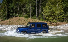 Picture water, blue, Mercedes-Benz, SUV, 4x4, G-Class, 2019