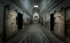 Picture background, prison, corridor