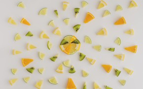 Picture lemon, kiwi, citrus, slices, kiwi, orange, fruit, orange, lemon