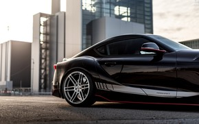 Picture asphalt, black, coupe, silhouette, Toyota, Supra, the fifth generation, mk5, Manhart, double, 2020, GR Above, …