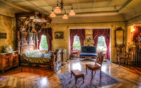 Picture style, interior, bedroom, Inside San Jose's haunted, Winchester House