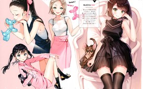 Picture girls, dog, scan, ancotaku