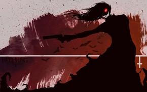 Picture look, smile, shadow, vampire, Hellsing, Hellsing