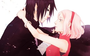 Picture love, romance, pair, two, Naruto, Naruto, Sasuke Uchiha, Sakura Haruno, Sasuke Uchiha, Sakura Haruno