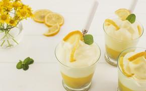 Picture lemon, dessert, dessert, Lemon, Cream