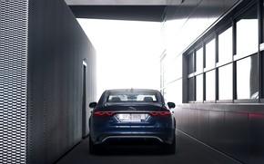 Picture light, Jaguar, lights, sedan, rear view, Jaguar XF, 2020, XF
