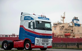 Picture Volvo, the ship, tractor, 4x2, Volvo FH, FH LNG 460, LNG