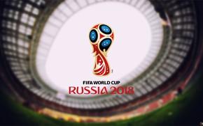 Picture The world Cup in 2018, Logo, Luzhniki Stadium, Sport, Football, FIFA, Logo, FIFA, Stadium of …