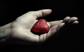 Picture BACKGROUND, BLACK, HAND, HEART, PALM