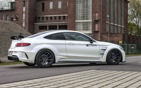 Picture Mercedes-Benz, side view, AMG, Coupe, C63, Widebody, Prior-Design, C-Class, 2017, C205, PD65CC