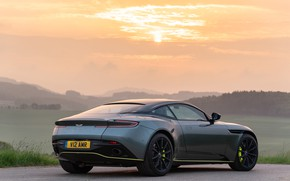Picture sunset, Aston Martin, rear view, 2018, DB11, AMR, Signature Edition