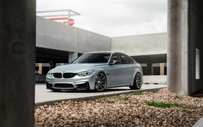 Picture BMW, Bridge, Vossen, Silver, F80