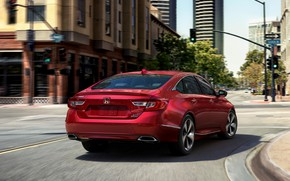 Picture red, crossroads, Honda, Accord, sedan, 2018, Touring, 2.0T, four-door