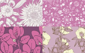 Picture flowers, background, pattern, texture, patterns, purple