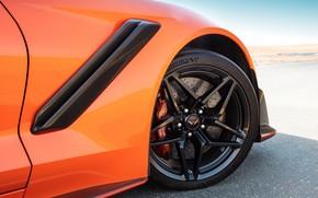 Picture orange, wheel, Corvette, Chevrolet, ZR1, 2019