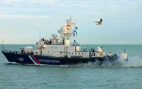 Picture ship, The black sea, Kuban, guard
