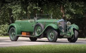 Picture Green, Retro, British Car, 1931 Bentley 4 14