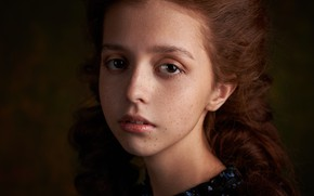 Picture girl, freckles, Max Fawn, Anya Karamova