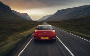 Picture Bentley, back, Flying Spur, 2020, V8, 2021, Flying Spur V8
