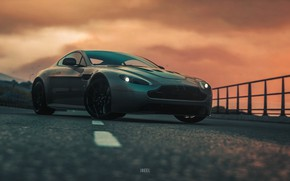 Picture Aston Martin, Auto, Machine, Rendering, The front, Aston Martin Vantage, DRIVECLUB, Game Art, Environments, Transport …