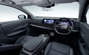 Picture the wheel, Nissan, salon, dashboard, JP-spec, 2020, Ariya, e-4orce