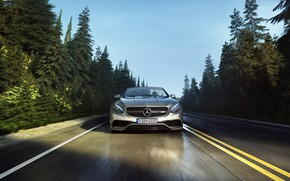 Picture Mercedes-Benz, Auto, Road, Machine, Grey, Mercedes, Car, Render, AMG, Silver, S63 AMG, Transport & Vehicles, …