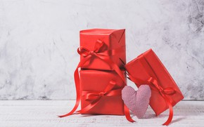 Picture background, holiday, Love, tape, gifts, red, red, heart, heart, box, gift, Valentines day
