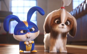 Picture rabbit, puppy, The secret life of Pets 2, The Secret Life of Pets 2
