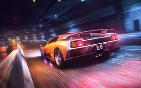 Picture Auto, Lamborghini, Machine, Style, 80s, Style, Supercar, Neon, Diablo, Sports car, 80's, Synth, Game Art, …