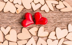 Picture love, heart, red, love, wood, romantic, hearts